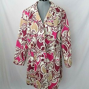 Lane Bryant Trench Coat Floral Print Plus 16